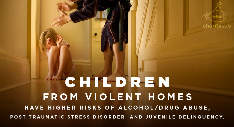 Children from violent homes have higher risk.